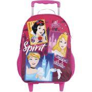 Mochila Escolar Com Rodinhas Princesa Disney G Dermiwil