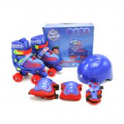 Patins Quad Kit Azul Tamanho 30 ao 33 1556 Unitoys