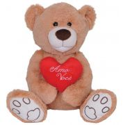 Pelúcia Urso Amor Com Coração 52 Cm Lovely Toys