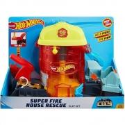 Pista Hot Wheels City Super Fire House Rescue GJL06 Mattel
