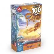 Quebra Cabeça 100 Peças Dragões 4031 Grow