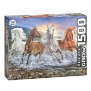 Quebra Cabeça 1500 Peças Cavalos Selvagens 3744 Grow