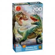 Quebra Cabeça 200 Peças Batalha Dos Dinossauros 4044 Grow