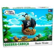 Quebra Cabeça 24 Peças Navio Pirata 10770 Pais E Filhos