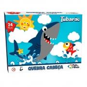 Quebra Cabeça 24 Peças Tubarão Premium 0998 Pais E Filhos