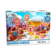 Quebra Cabeça 24 Peças Vila Doce Premium 10771 Pais E Filhos