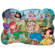 Quebra Cabeça 28 Peças Gigante Princesas 0991 Pais E Filhos
