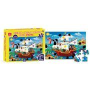 Quebra Cabeca 48 Pecas Magico Pirata Em Madeira 2765 Brincadeira De Criança
