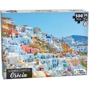 Quebra Cabeça 500 Peças Grécia Premium 10761 Pais E Filhos