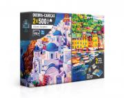 Quebra-Cabeça 500 Peças Litorais Europeus Toyster