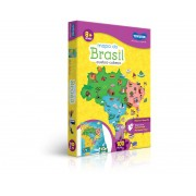 Quebra-Cabeça De 100 Peças Mapa Do Brasil 2063 Toyster