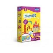 Quebra-Cabeça Educativo 200 Peças Mapa Do Mundo 2565 Toyster