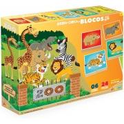 Quebra Cabeça Em Blocos De Madeira Zoo 833 Junges
