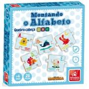 Quebra-Cabeça Montando O Alfabeto 26 Peças Em Madeira Brincadeira de Criança