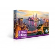 Quebra-Cabeça Panorâmico 1500 Peças Luzes De Xangai Toyster