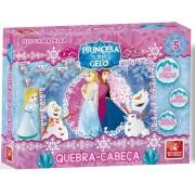 Quebra-Cabeça Princesa Do Gelo 108 Peças Em Madeira Brincadeira de Criança