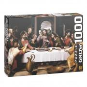 Quebra-Cabeça Puzzle 1000 Peças Santa Ceia 1393 Grow