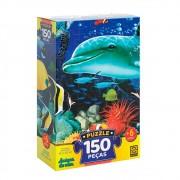 Quebra-Cabeça Puzzle 150 Peças Amigos Do Mar 03471 Grow