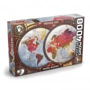 Quebra Cabeca Puzzle Mapa Mundi 4000 Peças 3463 Grow