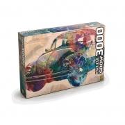 Quebra Cabeça Puzzle Vintage Car 3000 Peças 3462 Grow