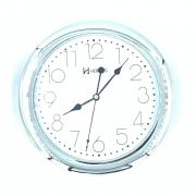 Relógio De Parede Cromado Liso 6432 Herweg