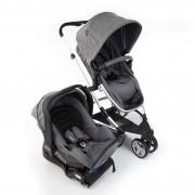 Travel System Sky Trio Carrinho Bebê Conforto E Base Grey Infanti