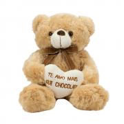 Urso De Pelúcia Te Amo Mais Que Chocolate BBL1536M Fofy Toys