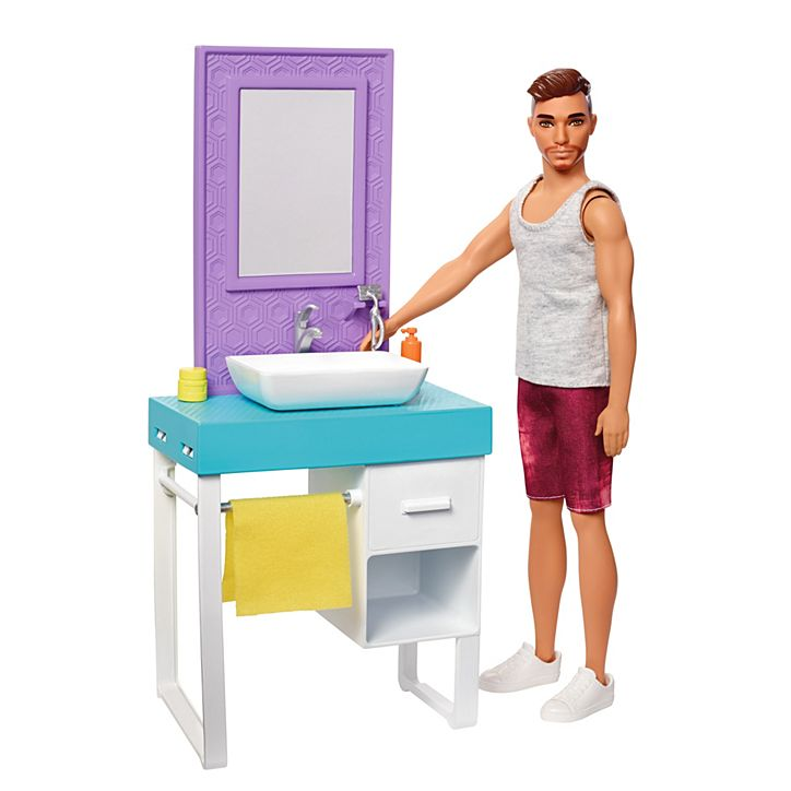 Barbie Boneco Ken E Móveis FYK51 Mattel