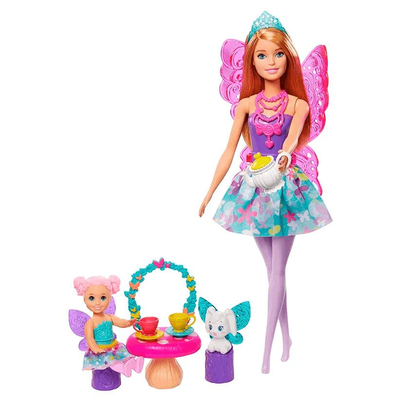Barbie Dreamtopia Dia De Pets Festa Do Cha GJK49 Mattel