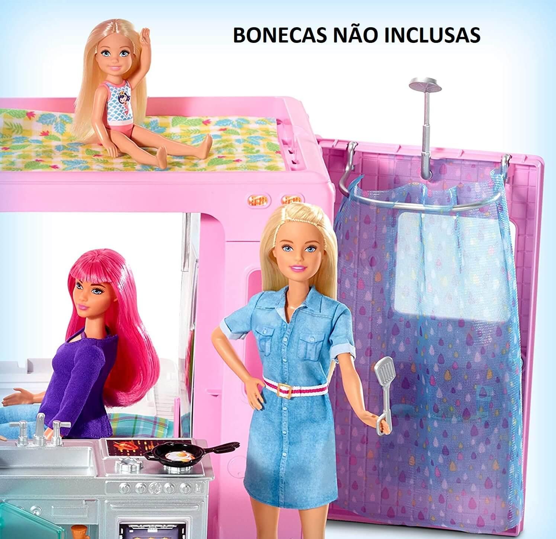 Barbie Trailer Acampamento Dos Sonhos 3 Em 1 GHL93 Mattel