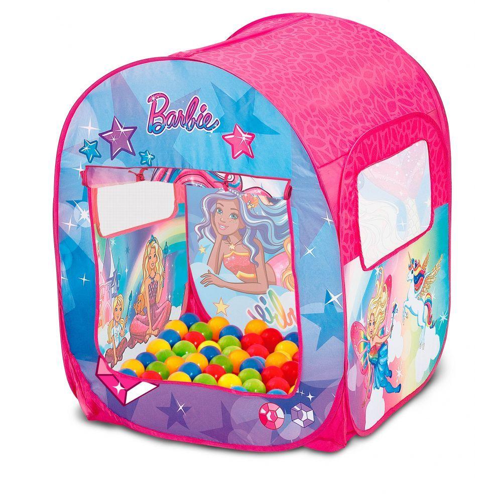 Barraca Infantil Barbie Mundo Dos Sonhos Com 50 Bolinhas Fun