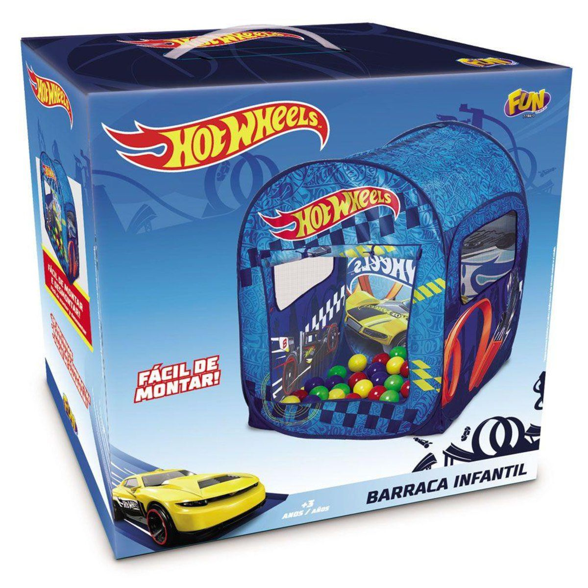 Barraca Infantil Com 50 Bolinhas Hot Wheels 80438 Fun