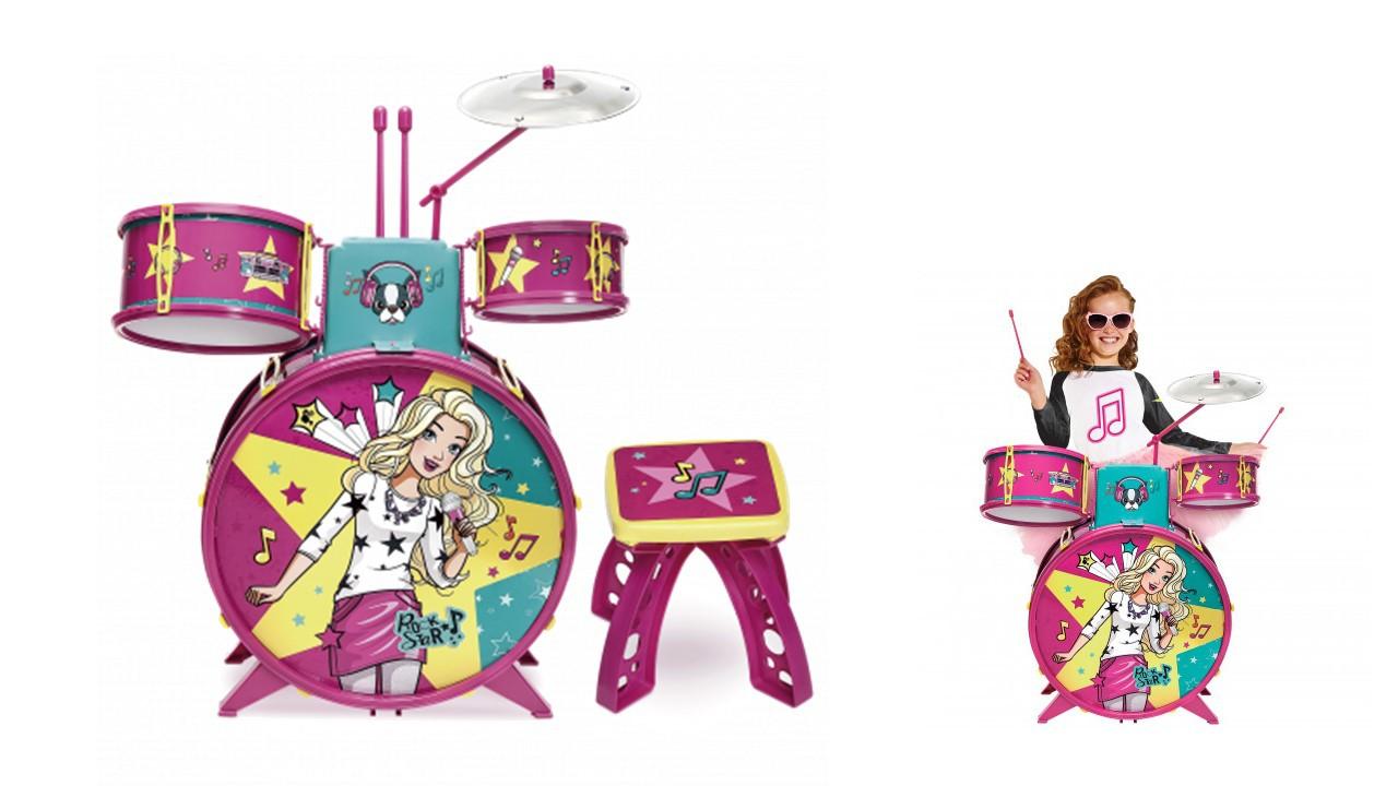 Bateria Infantil Barbie Fabulosa F00047 Fun
