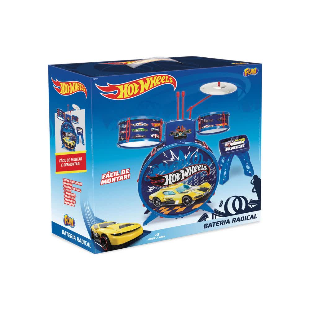 Bateria Infantil Radical Hot Wheels F00057 Fun