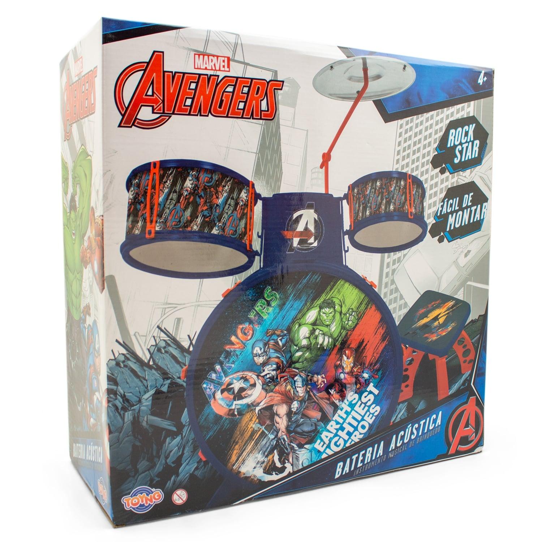 Bateria Musical Infantil Vingadores Avengers 34473 Toyng