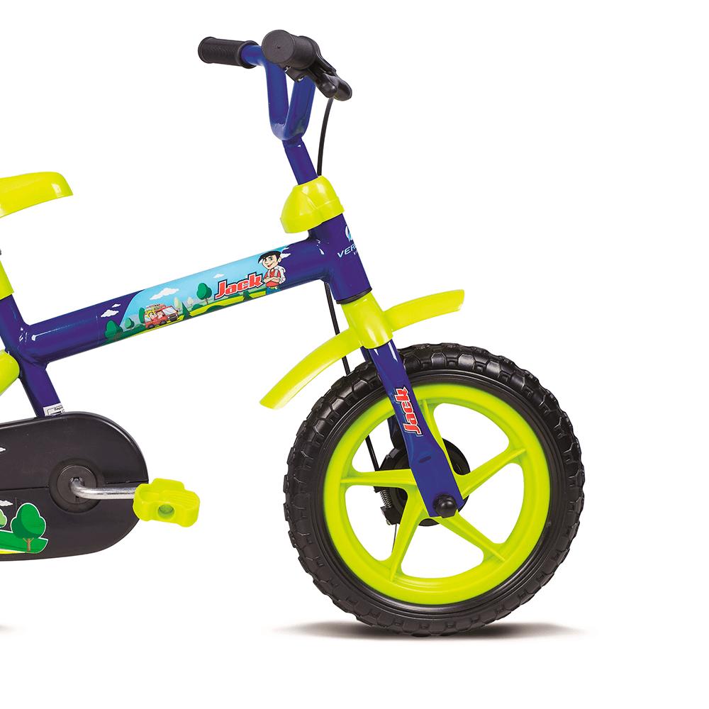 Bicicleta Infantil Aro 12 Jack Azul e Verde 10445 Verden