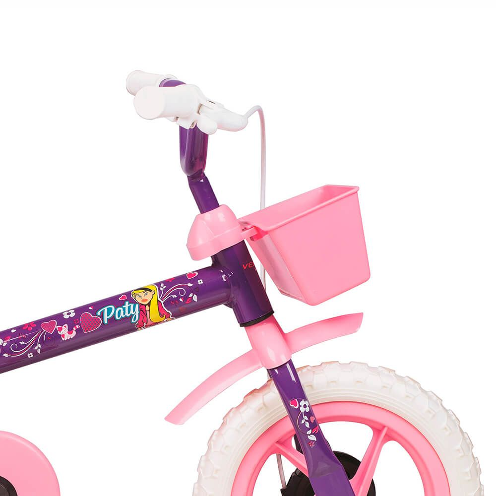 Bicicleta Infantil Aro 12 Paty Lilás e Rosa 10441 Verden
