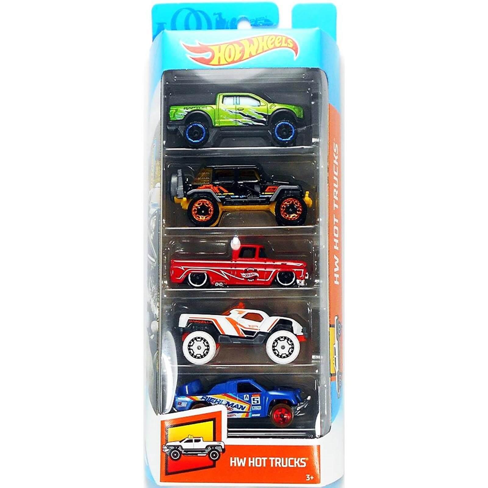Blister Hot Wheels Com 5 Carrinhos 1806 Mattel