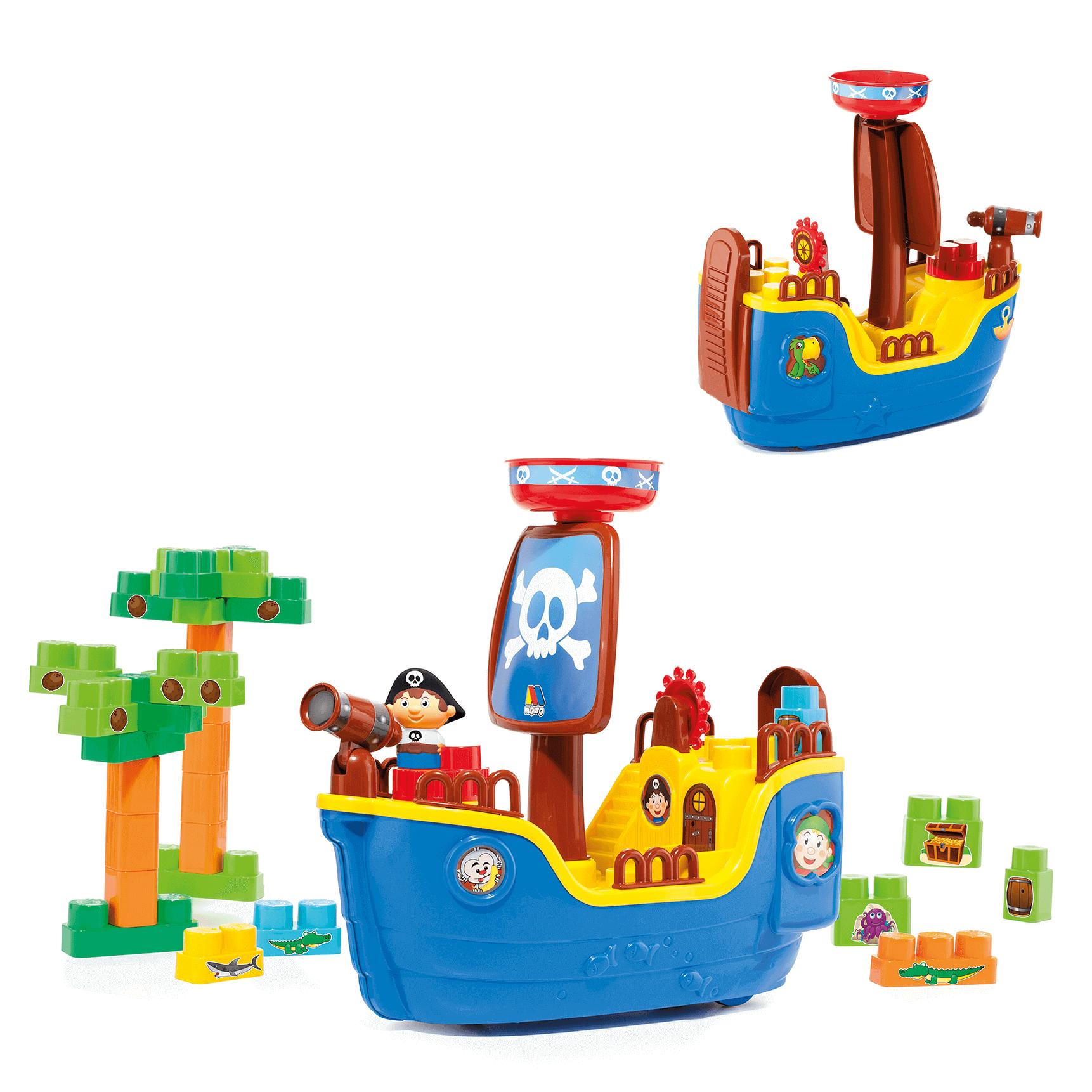 Blocos De Montar Baby Land Navio Pirata Com 30 Blocos 8002 Cardoso