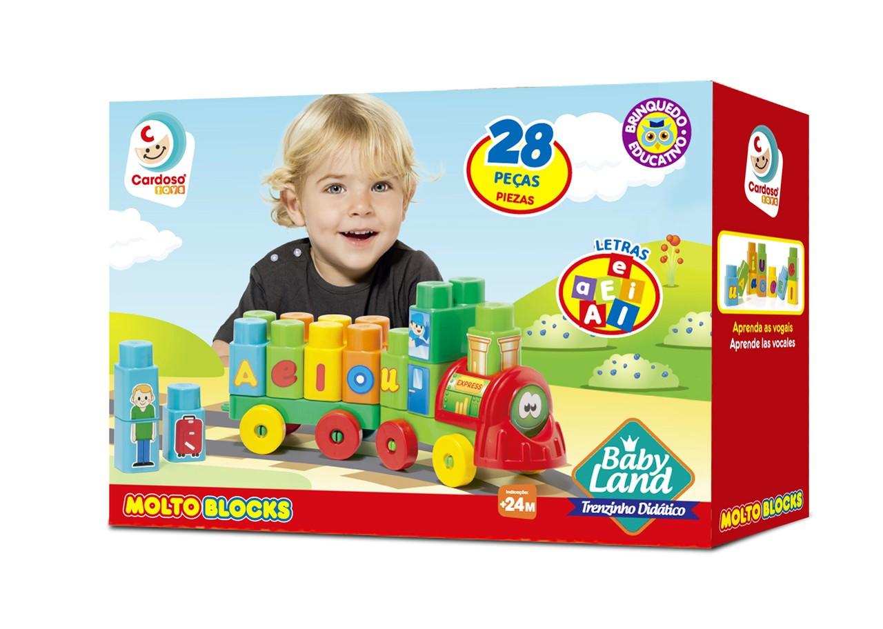 Blocos De Montar Baby Land Trenzinho Didático 8015 Cardoso