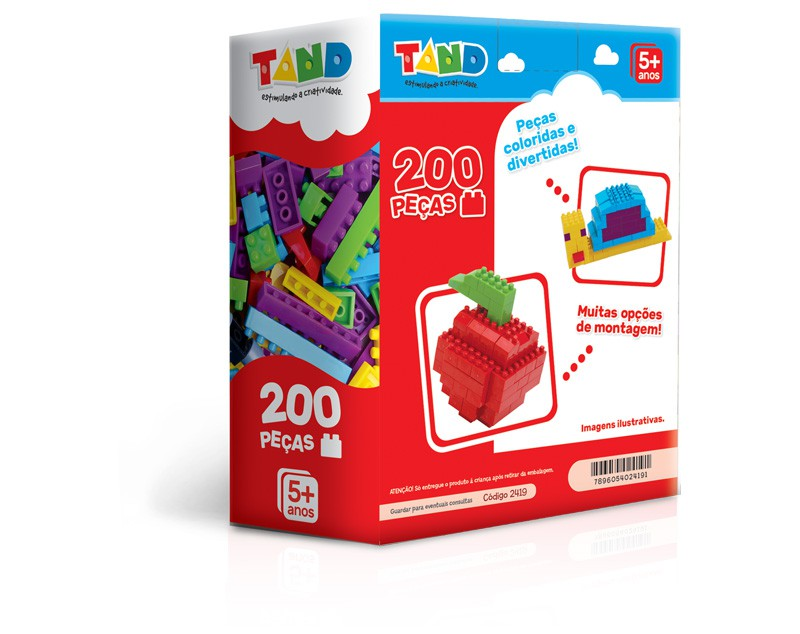 Blocos De Montar Tand 200 Peças 2419 Toyster