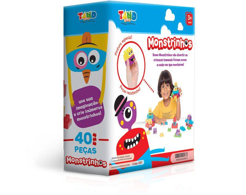 Blocos De Montar Tand Kids Monstrinhos 2587 Toyster