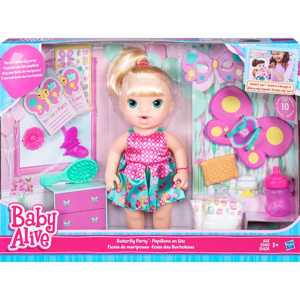 Boneca Baby Alive Festa Das Borboletas Loira B8279 Hasbro
