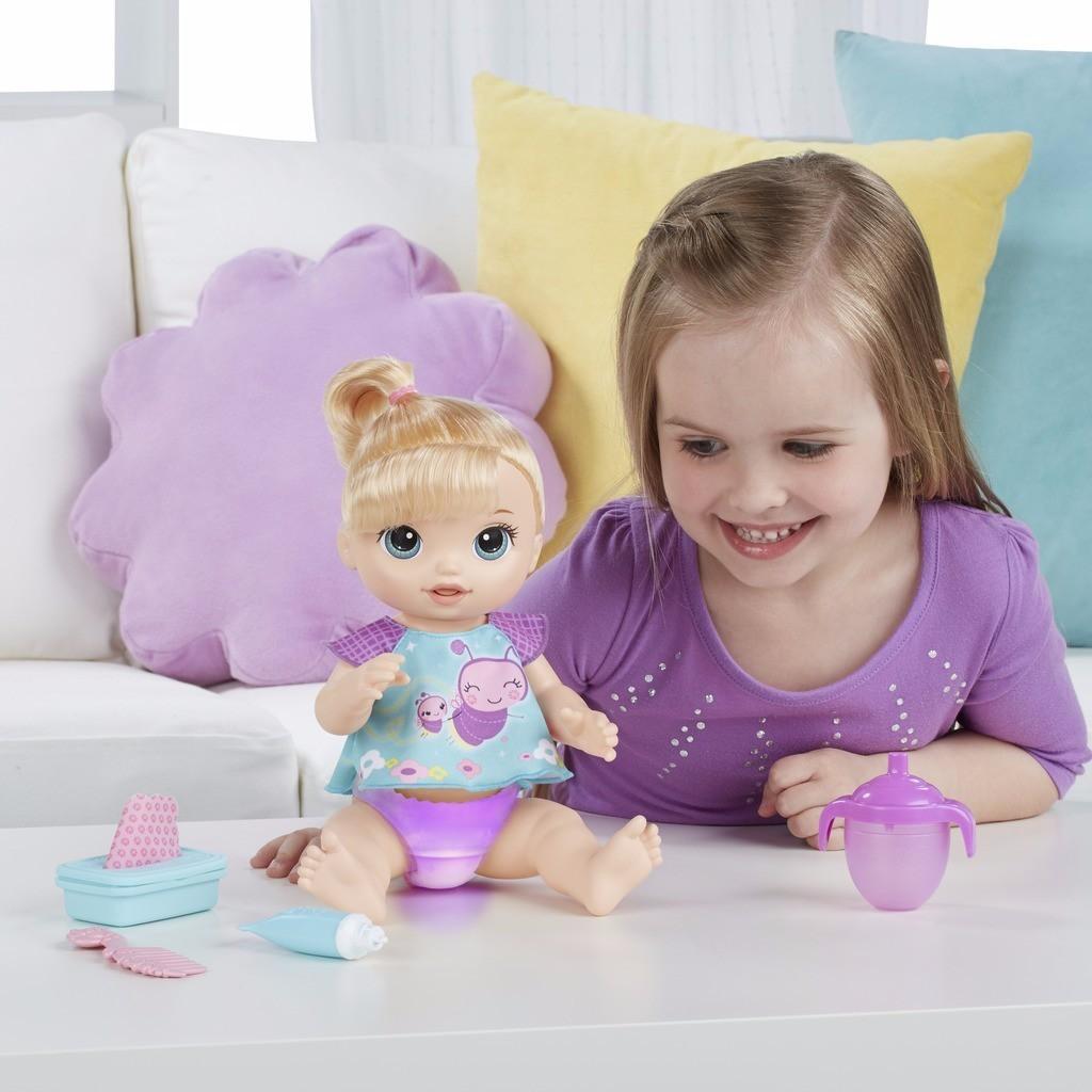 Boneca Baby Alive Fraldinha Mágica Loira B6051 Hasbro
