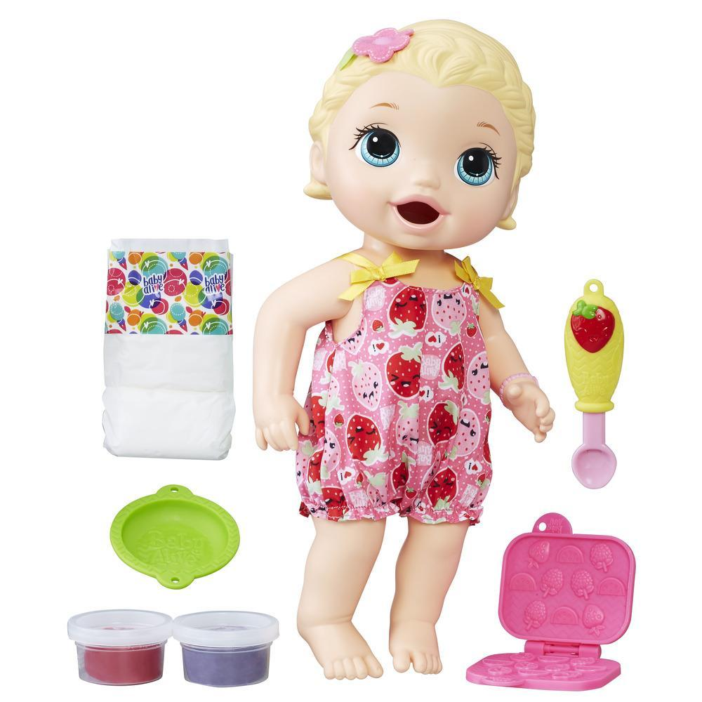 Boneca Baby Alive Lanchinhos Divertidos Loira C2697 Hasbro