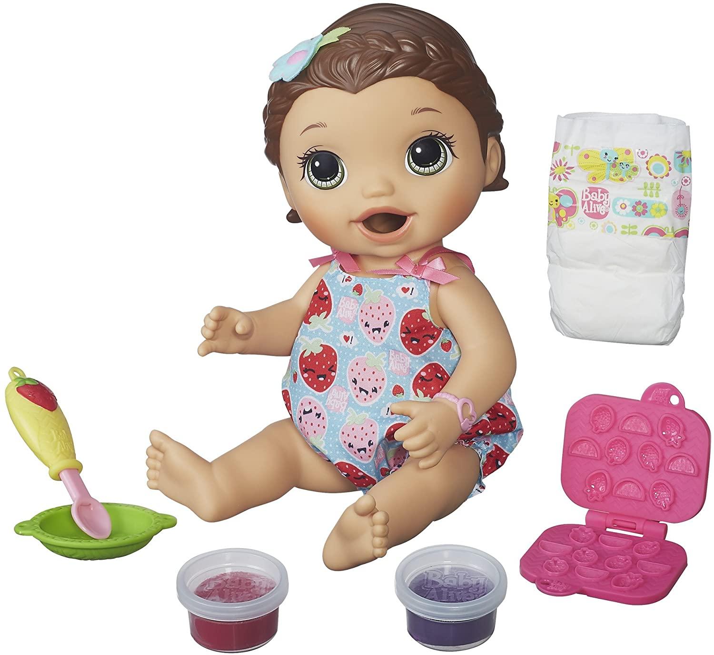Boneca Baby Alive Lanchinhos Divertidos Morena B5015 Hasbro