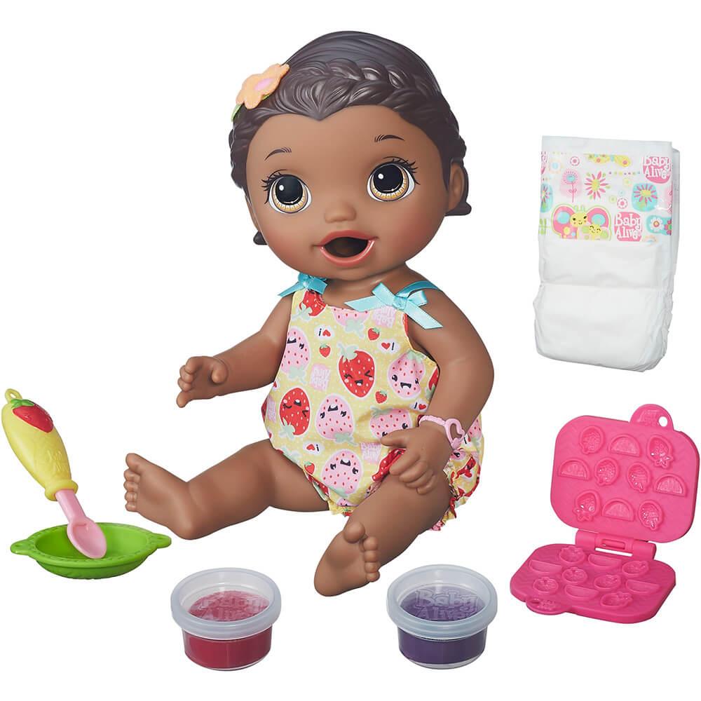 Boneca Baby Alive Lanchinhos Divertidos Negra B5014 Hasbro