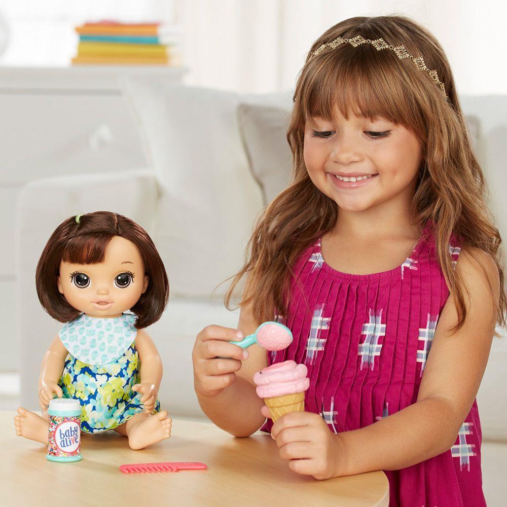 Boneca Baby Alive Sobremesa Mágica Morena C1089 Hasbro