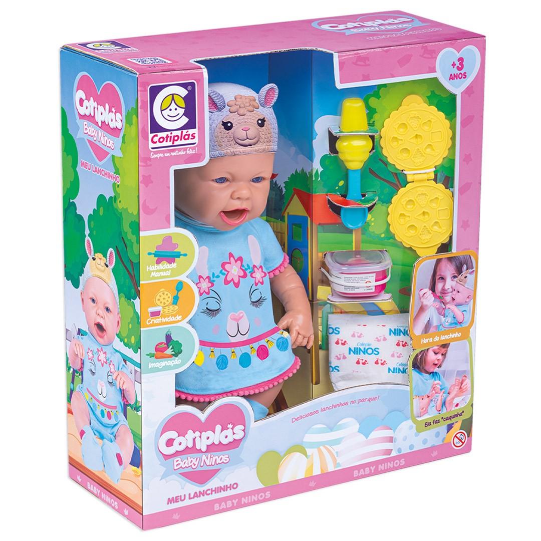 Boneca Baby Ninos Hora Do Lanche Bichinhos 2396 Cotiplás
