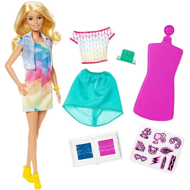 Boneca Barbie Crayola Criações Com Carimbos FRP05 Mattel